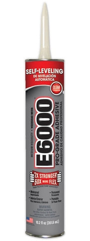E6000 Glue Clear Medium Viscosity 10.2 oz Cartridge #232021