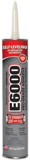 E6000 Glue Black MV 10.2oz Cartridge 12/Case #232031C - Creative Wholesale
