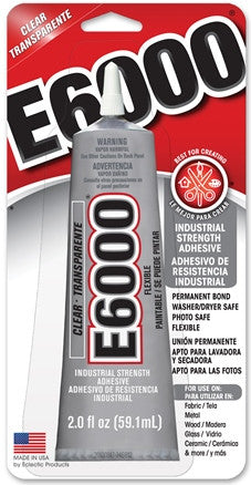 E6000 Glue CLEAR 2 ounce Tube, 6 Per Case  #237032C - Creative Wholesale