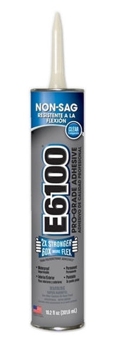 E6100 Glue Clear 10.2 ounce Cartridge Case of 12 #252011C - Creative Wholesale