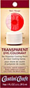 Transparent Dye Red 1 oz., #46428C  -   Case of 6