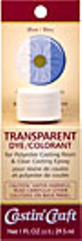 Transparent Dye Blue 1 Ounce  #46430C  - Case of 6