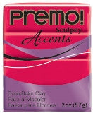 Premo Sculpey® Accents Fluorescent Pink 2 oz bar PE02 5503 - Creative Wholesale