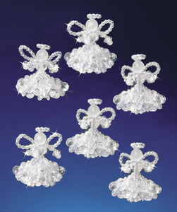 Beadery Holiday Ornament Kit Crystal Angels #5538 - Creative Wholesale