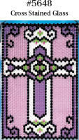 Beaded Banner Kit Stained Glass Cross #5648 - Creative Wholesale