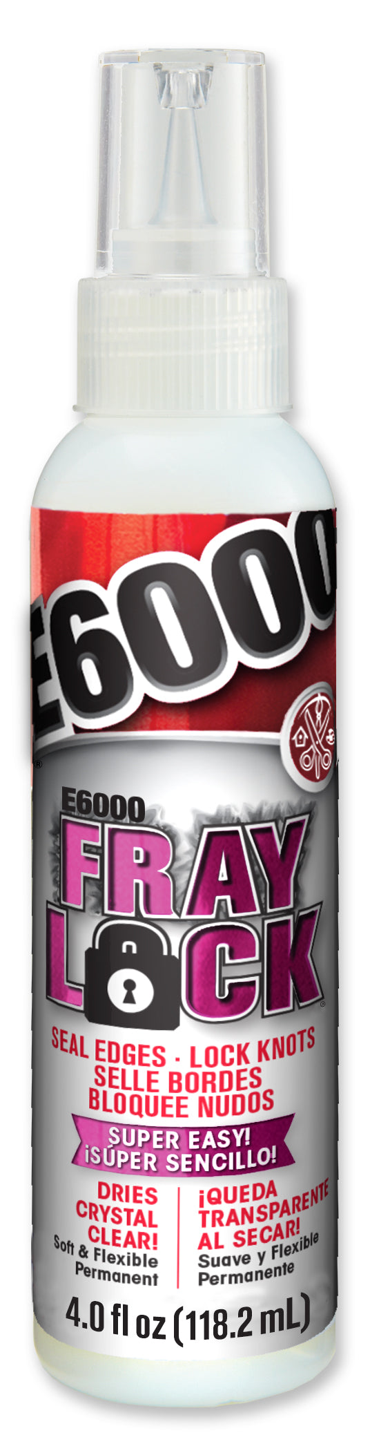 E6000 Fray Lock 4 ounce 565204C. Case of 6 tubes
