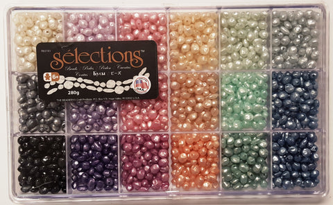Bead Box, Selections Giant Pastel Pearl Beads 6289 - Creative Wholesale