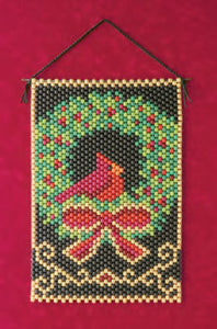 Beaded Banner Kit Cardinal Wreath #7143 - Creative Wholesale