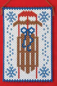 Beaded Banner Kit Winter Sled #7246 - Creative Wholesale