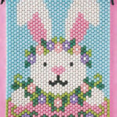 Beaded Banner Kit Happy Bunny  #7275