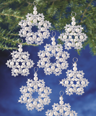 Beadery Holiday Ornament Kit Crystal & Pearl Flakes #7335 - Creative Wholesale