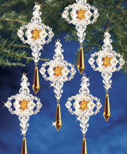 Beadery Holiday Ornament Kit Victorian Drop  #7367 - Creative Wholesale
