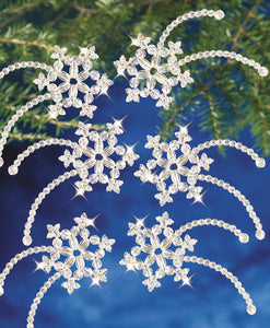 Beadery Holiday Ornament Kit Falling Stars #7463 - Creative Wholesale