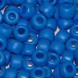 Pony Beads 6 X 9mm, Frosted/Matte Colors Pkg 1000