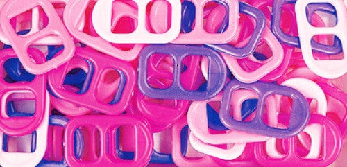 Soda Pop Tabs Plastic 16 X 25mm Pink Multi 7623V151