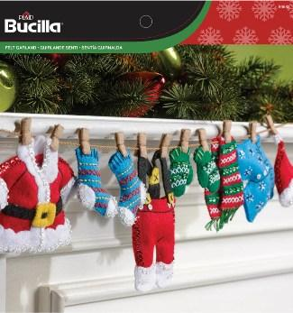 Bucilla Felt Garland Santa's Laundry Kit 86683 - Creative Wholesale