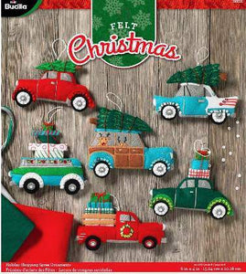 Bucilla Felt Ornament Kit Holiday Shopping Spree 86836 - Creative Wholesale