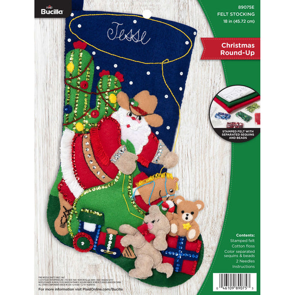 Felt Stocking Christmas Round-Up  89075E - Creative Wholesale