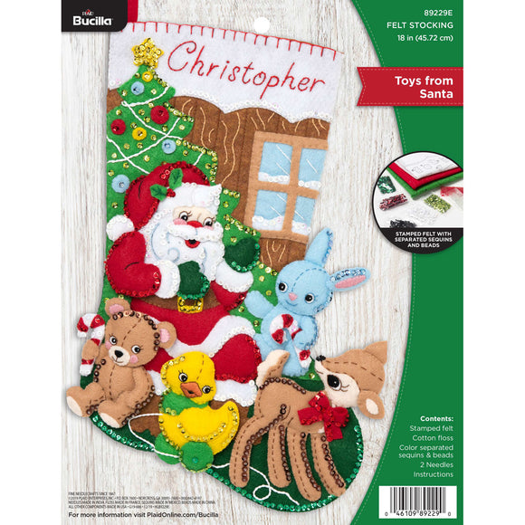 Felt Stocking Toys From Santa 89229E - Creative Wholesale