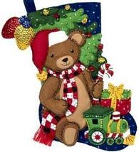 Felt Stocking Teddy Bear 89231E - Creative Wholesale