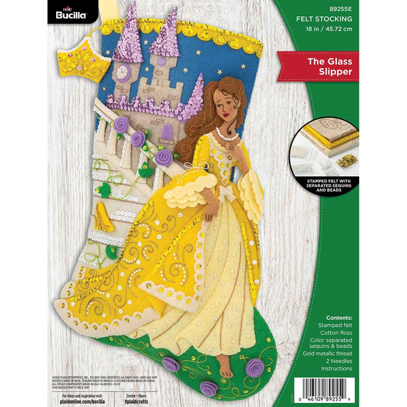 Felt Stocking The Glass Slipper 89255E