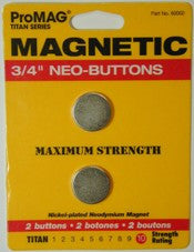 "Magnet Neo Button 3/4"" X 1/16"" Pkg  of 2    60002P - Creative Wholesale"