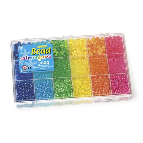 Bead Box, Bead Extravaganza, Bright Rainbow Mix, 6234 - Creative Wholesale