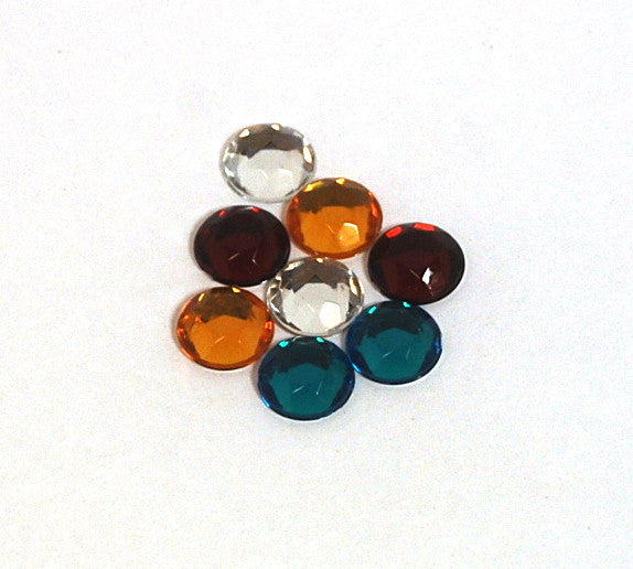 Rhinestones 7mm Round X144 Christmas Colors X630 265
