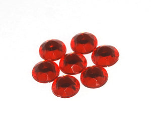 Rhinestones 11mm Round Raspberry Foiled Back (144 per pkg) X632 082 - Creative Wholesale