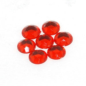 Rhinestones 11mm Round X144 Ruby Foiled Back X632 017 (CLOSEOUT) - Creative Wholesale