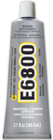 E6800 UV Resistant Glue Clear 3.7oz Tube Case/12 Tubes #260011C - Creative Wholesale