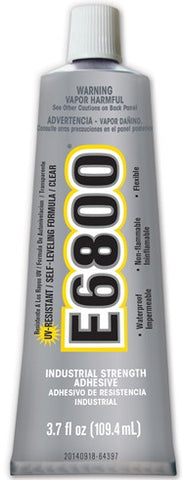 E6800 UV Resistant Glue, Clear, 3.7 ounce Tube, Case of 12 Tubes - Creative Wholesale