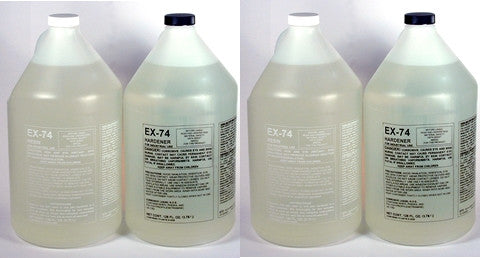 EX-74 Epoxy resin for Resin Art Bars Tables Case of 4 Gallons $224.86