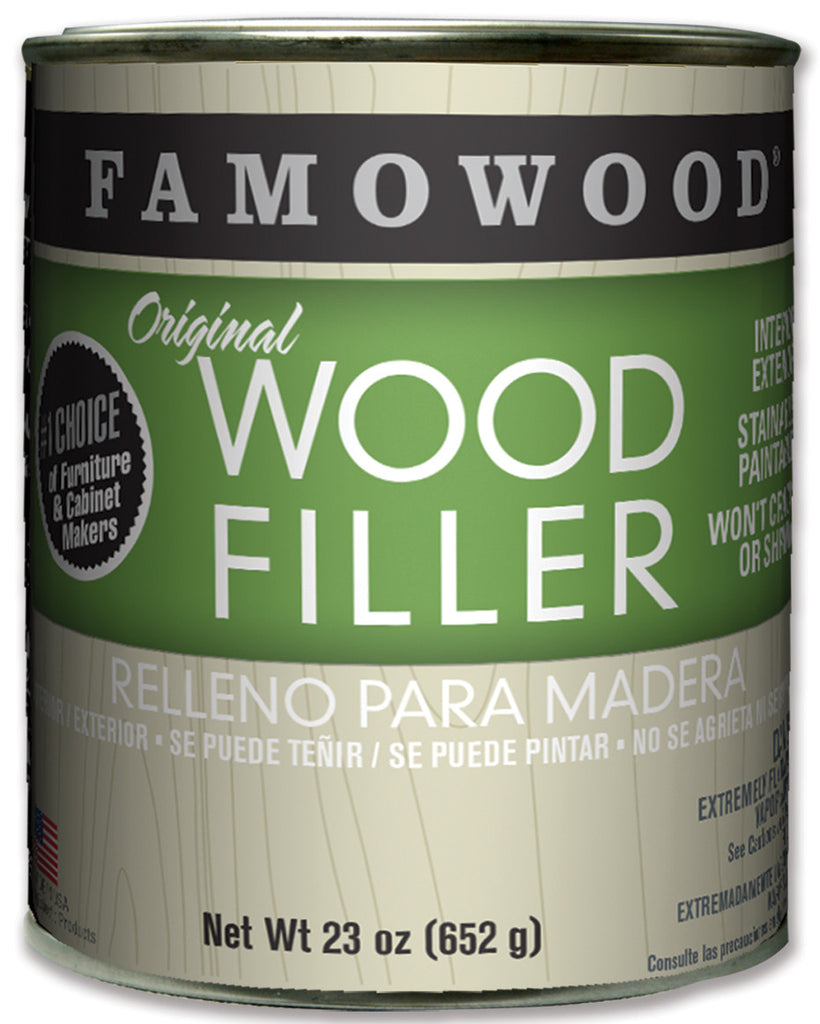 Famowood Wood Filler Walnut Solvent Base 23oz 12/Case 36021142C - Creative Wholesale