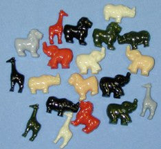 Novelty Safari Beads 25MM Safari Multi  1253SV288 - Creative Wholesale