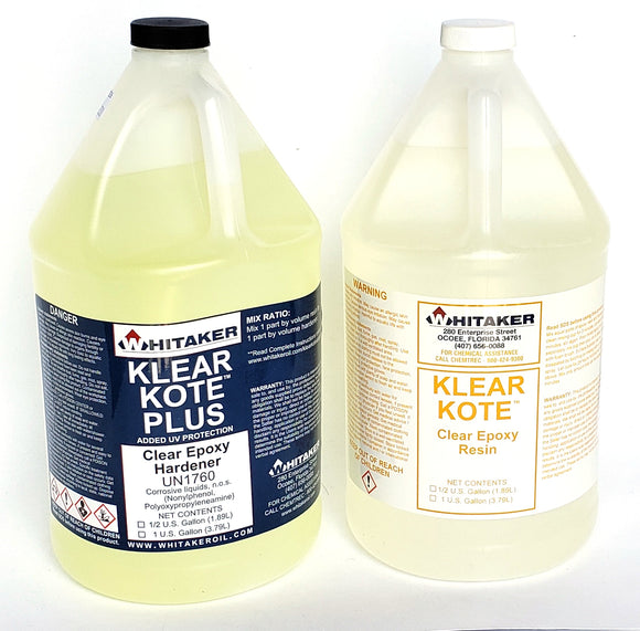 Klear Kote PLUS UV Epoxy Resin 4 gal kit NEW