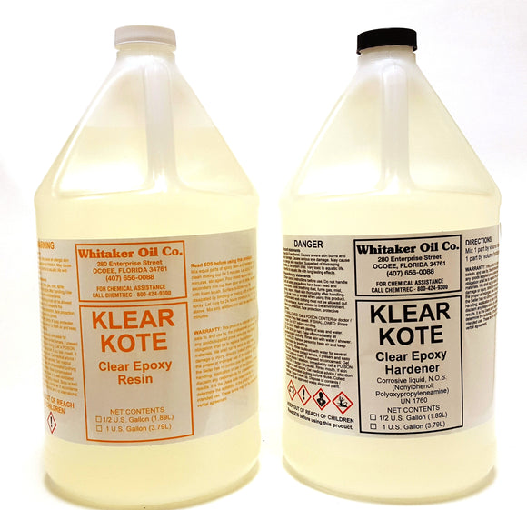 Klear Kote Epoxy Resin Coating 2 gallon kit KK603 - Creative Wholesale