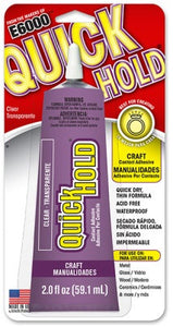 Quick Hold Craft Adhesive 2 ounces 6 Per Case 380722C