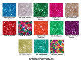 "Pony Beads, Barrel ""Crow"" Beads size 6 x 9mm Sparkle Colors Pkg 1000 - Beadery Products"