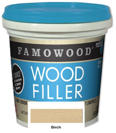 Famowood© Latex Wood Filler 24 oz Birch Color  Case/12  #40022106C - Creative Wholesale