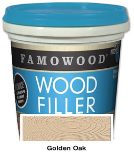 Famowood Latex Wood Filler Golden Oak 24oz 12/Case 40022152C - Creative Wholesale