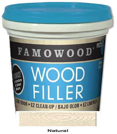 Famowood Latex Wood Filler 24 oz. Case 12 Natural 40022126C - Creative Wholesale