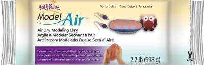 Polyform Model Air, Air Dry Modeling Clay, Terra Cotta, 2.2 lbs  AD2222T - Creative Wholesale