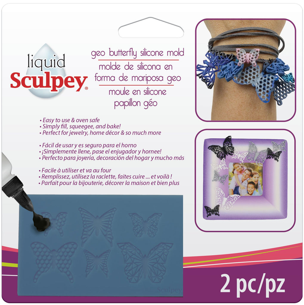 Sculpey Geo Butterfly Silicone Bakeable Mold #APM47