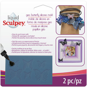 Sculpey Geo Butterfly Silicone Bakeable Mold #APM47 - Creative Wholesale