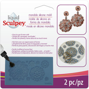 Sculpey Mandala Silicone Bakeable Mold #APM49 - Creative Wholesale
