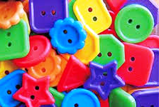 Novelty Buttons Opaque Multi #1594SV076 1 lb - Beadery Products