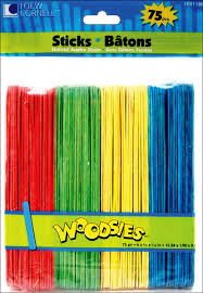 Colored Jumbo Craft Sticks by Simply Art 75 Count 1021168