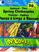 Colored  Tiny Spring Clothespins 50 Count 1021198 - Creative Wholesale