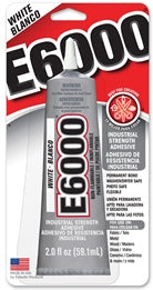 E6000 CRAFT Glue WHITE 2 oz. Tube 6 Per Case  #237040C